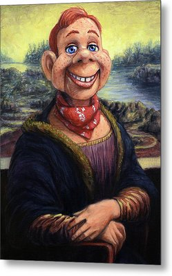 Metal Print featuring the painting Howdy Doovinci by James W Johnson