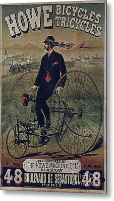 Howe Bicycles Tricycles Vintage Cycle Poster Metal Print