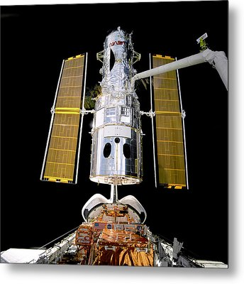 Hubble Telescope Redeployment Metal Print by Jennifer Rondinelli Reilly - Fine Art Photography