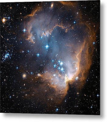 Hubble's View Of N90 Star-forming Region Metal Print