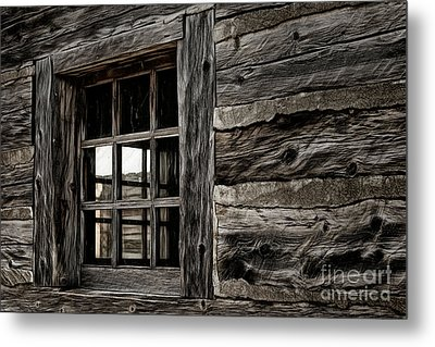 Metal Print featuring the photograph Hudson Bay Fort Window by Brad Allen Fine Art