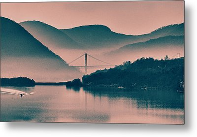 Hudson Highlands Fog Metal Print