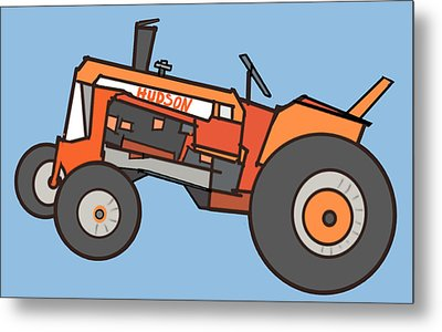 Hudson's Tractor Metal Print by Denny Casto