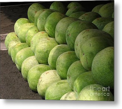 Huge Watermelons Metal Print by Yali Shi