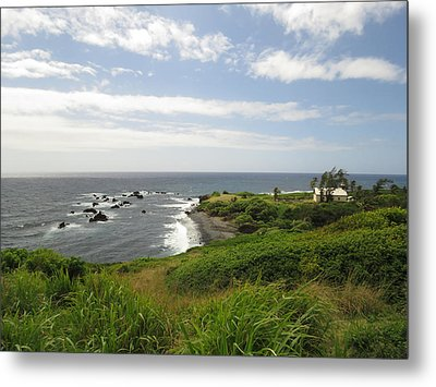 Huialoha Church, Kaupo, Maui Metal Print by Feva Fotos
