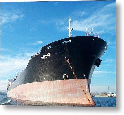 Hull Of Vessel Haydar At Anchor Metal Print by Alan Espasandin