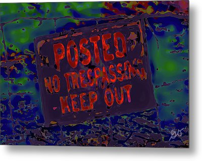 Human Barriers To The Subsconscious Metal Print by Gina O'Brien
