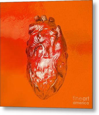 Human Heart In Digital Art Metal Print