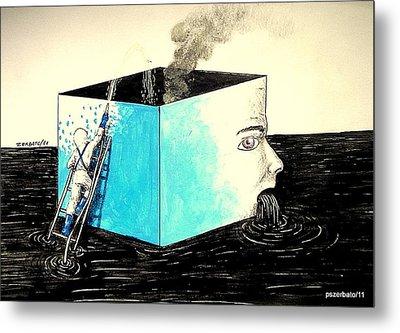 Human Imminent Collapse Metal Print by Paulo Zerbato