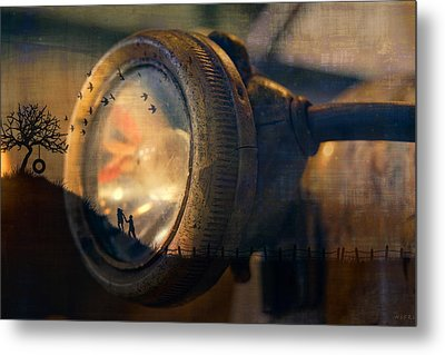 Human Soul With Knowledge Metal Print by Nicole Frischlich