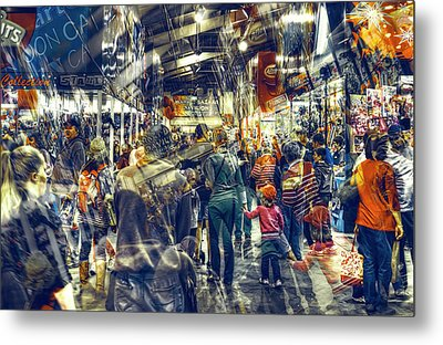 Human Traffic Metal Print by Wayne Sherriff