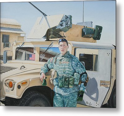 Metal Print featuring the painting Hummer by Mike Ivey