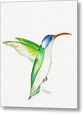 Metal Print featuring the painting Hummer by Patricia Piffath