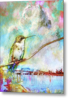 Hummingbird By The Chattanooga Riverfront Metal Print