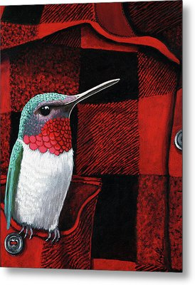 Hummingbird Memories Metal Print by Linda Apple
