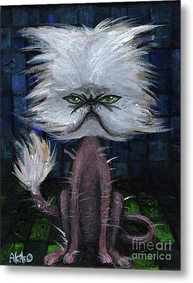 Humorous Cat Metal Print