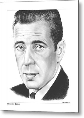 Humphrey Bogart Metal Print by Greg Joens