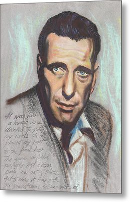 Humphrey Bogart  Not A Chess Piece Was Out Of Place Metal Print by Kean Butterfield