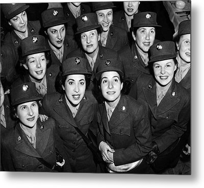 Hundreds Of Women From The Womens Metal Print
