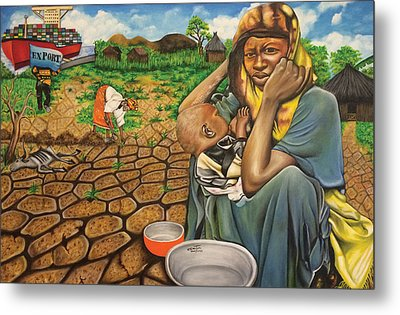 Hunger In The Land Of Plenty Metal Print
