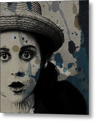 Metal Print featuring the mixed media Hungry Eyes by Paul Lovering