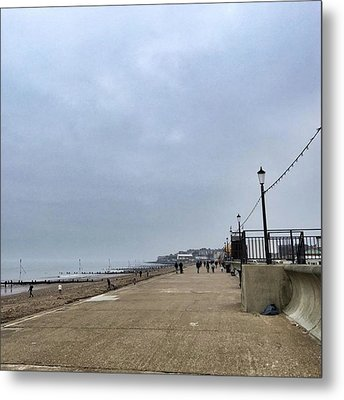 Hunstanton At 4pm Yesterday As The Metal Print by John Edwards