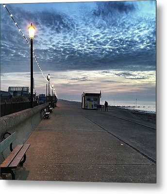 Hunstanton At 5pm Today  #sea #beach Metal Print by John Edwards