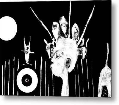 Metal Print featuring the drawing Hunted In Africa by Rc Rcd