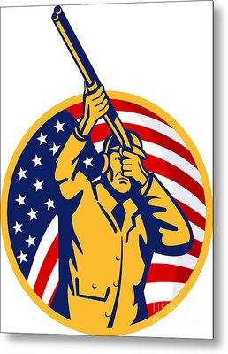 Hunter American Flag Metal Print by Aloysius Patrimonio