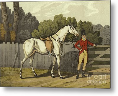 Hunter Metal Print by Henry Thomas Alken