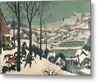 Hunters In The Snow Metal Print by Pieter the Elder Bruegel