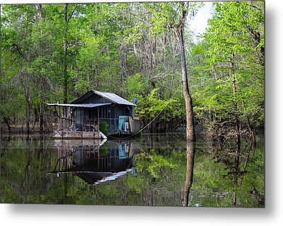 Hunting And Fishing Cabin Metal Print