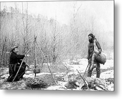 Hunting Camp Winter 1887-88 -- South Dakota Metal Print