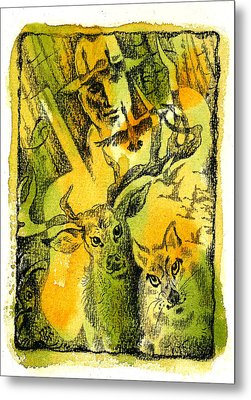 Hunting Metal Print by Leon Zernitsky