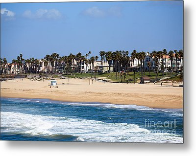 Huntington Beach California Metal Print by Paul Velgos
