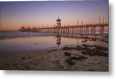 Metal Print featuring the photograph Huntington Beach Pier by Sean Foster