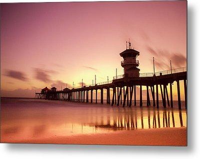 Huntington Beach Sunset Metal Print by Phong Trinh