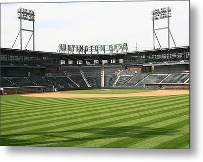 Huntington Park Baseball Field Metal Print