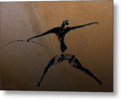 Huntsman Of Lascaux V2 Metal Print by Asok Mukhopadhyay
