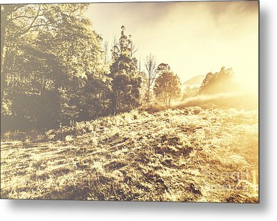 Huon Valley Vintage Landscape Metal Print by Jorgo Photography - Wall Art Gallery