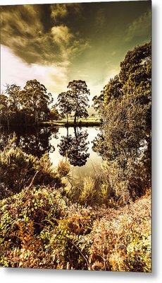 Huonville River Reflections Metal Print