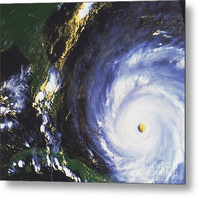 Hurricane Floyd Metal Print by NASA / Science Source