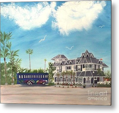 Hurricane Restaurant Pass A Grill Florida Metal Print by Peggy Holcroft