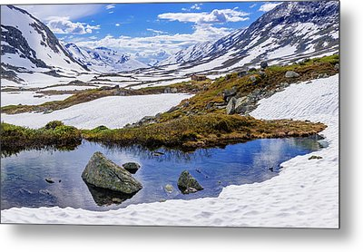 Metal Print featuring the photograph Hut In The Mountains by Dmytro Korol