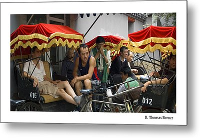 Metal Print featuring the photograph Hutong Tour Driveres by R Thomas Berner
