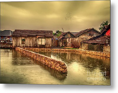 Metal Print featuring the photograph Huts 2 by Charuhas Images