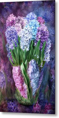 Hyacinth In Hyacinth Vase 1 Metal Print