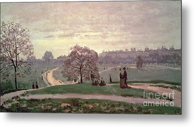 Hyde Park Metal Print by Claude Monet