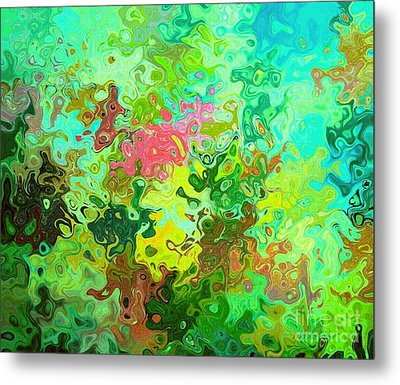 Abstract Water Flowers Metal Print by ARTography by Pamela Smale Williams
