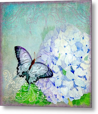 Hydrangea Dreams Metal Print by Audrey Jeanne Roberts